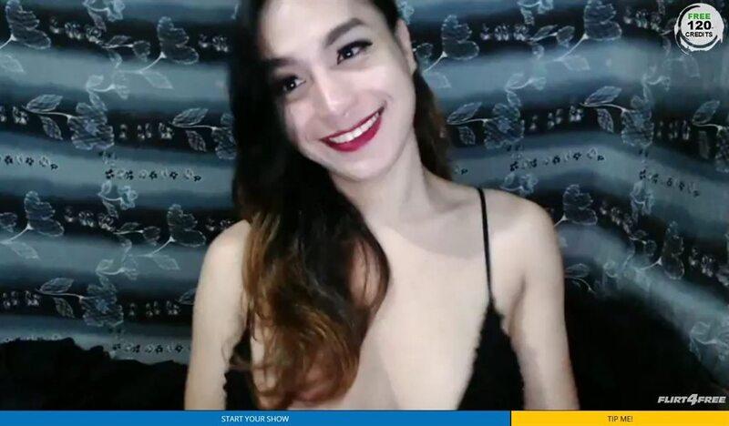 Flirt4free Sexy Tranny Smiling