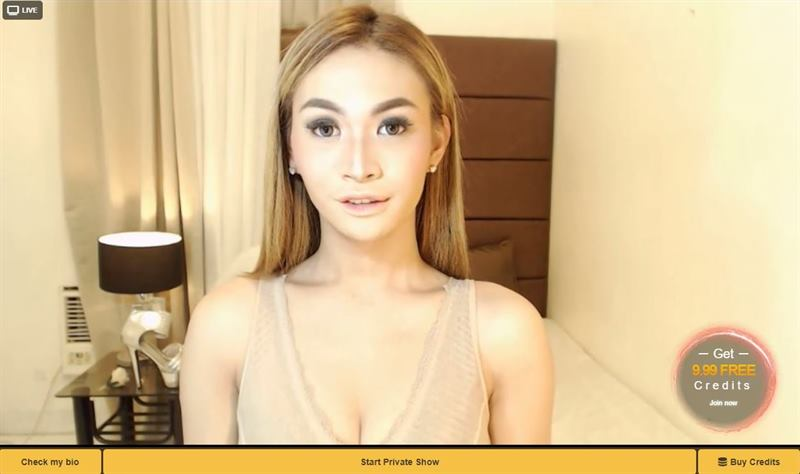 Mytrannycams Stunning Blonde Tranny Model